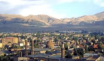 The plateau region of Turkey and the city of Erzurum.
